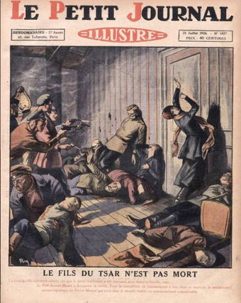 Execution of the Romanov family, Le Petit Journal Le Petit Journal, 1926 cover.png