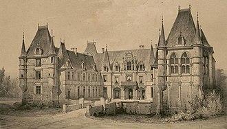 Château de Marchais - Late 19th century drawing