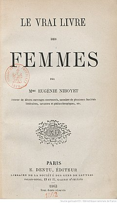 Le vrai livre des femmes (...)Niboyet Eugénie bpt6k1025077t.jpg