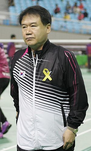 Lee Deuk-choon - Lee Deuk Choon at the 2014 Badminton Asia Championships in Gimcheon
