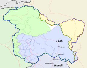 Manali India Map.Leh Manali Highway Wikipedia