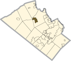 Location of Schnecksville in Lehigh County