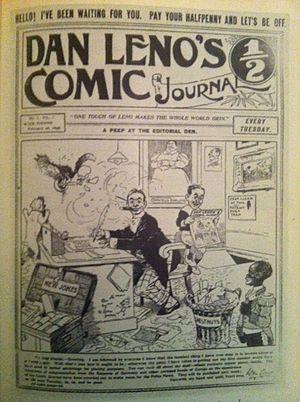 Celebrity comics - Dan Leno's Comic Journal, Issue No. 1, February 26, 1898