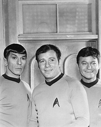 Space Seed - Michelle Erica Green called Khan a perfect foil for Spock, Kirk and McCoy (pictured left to right).