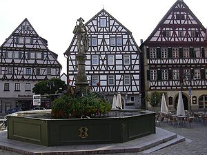 Leonberg - Traditional houses on market square