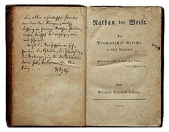 File:Lessing Nathan der Weise 1779.jpg (Quelle: Wikimedia)