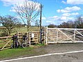 Level crossing at the old Ainderby Station - geograph.org.uk - 144513.jpg