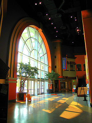 Victoria Gardens Cultural Center - The Lewis Family Playhouse Lobby.