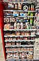 Light bulbs, electric household products, etc. on display, shelves in SPAR Supermarket in Fusa, Hordaland, Norway 2018-03-21 B.jpg