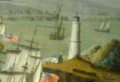 Lighthouse Point, Siege of Louisbourg 1745 (inset) by Peter Monamy (1681-1749).png