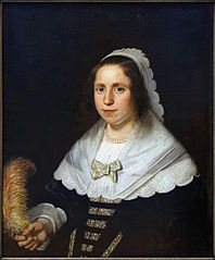 Portrait of a Woman holding a Feather