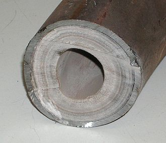Limescale - Limescale buildup inside a pipe reduces both liquid flow through the pipe and thermal conduction from the liquid to the outer pipe shell. Both effects will reduce the pipe's overall thermal efficiency when used as a heat exchanger.