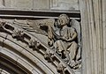 Lincoln Cathedral, Angel with scroll (32262445665).jpg