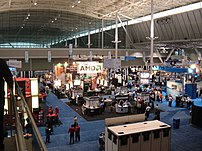 The 2006 LinuxWorld trade show at the Boston Convention and Exposition Center.