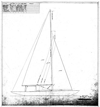 Herman Whiton - Plan of the yacht Llanoria