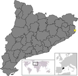 Begur, Spain - Image: Localització de Begur