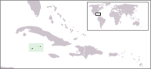 Outline of the Cayman Islands - The location of the Cayman Islands