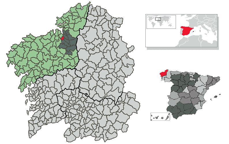 Location of Betanzos