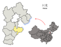 Location of Cangzhou Prefecture within Hebei (China).png