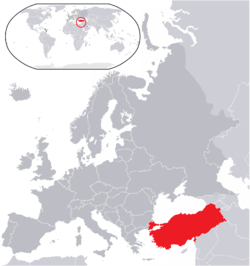 Location of Republika ng Turkey