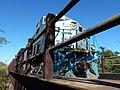Locomotiva de comboio que passava sentido Boa Vista pela ponte ferroviária sobre o Ribeirão Piraí, limite dos municípios de Salto e Indaiatuba - Variante Boa Vista-Guaianã km 212 - panoramio.jpg