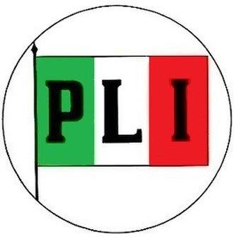 Italian Liberal Party - Image: Logo Partito Liberale Italiano