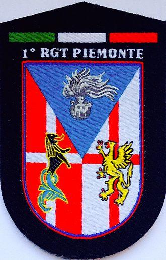 "1st Carabinieri Mobile Brigade - Emblem of 1st Carabinieri Regiment ""Piemonte"""