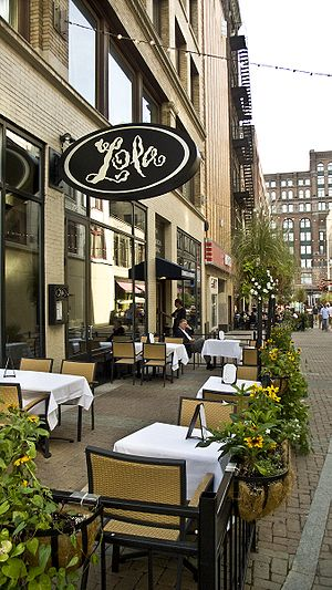 Michael Symon - Lola's patio on East 4th Street in downtown Cleveland