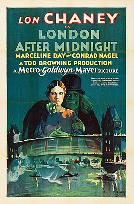 Aanplakbiljet voor London After Midnight