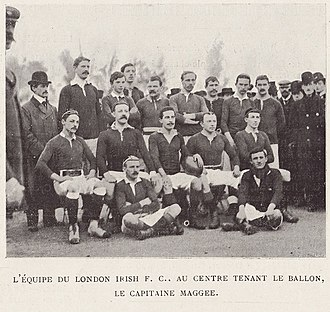 London Irish - The squad that played Racing Métro 92 at Parc des Princes in 1899.