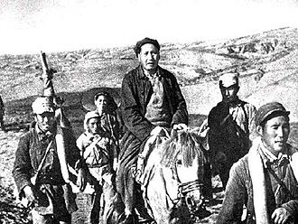 Battle of Yan'an - Mao Marching to Northern Shaanxi