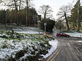 Looking along Ferry Lane towards the entrance to The College of Law on St Catherine's Hill - geograph.org.uk - 1629822.jpg