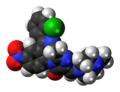 Loprazolam molecule spacefill.png