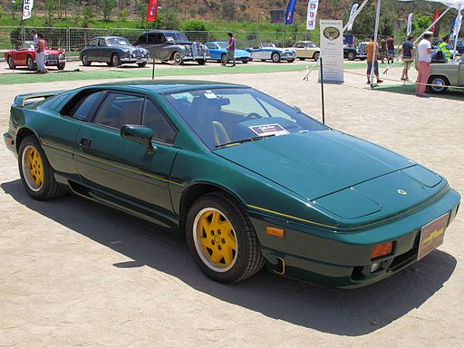 Lotus Esprit Turbo 1991 green with yellow wheels