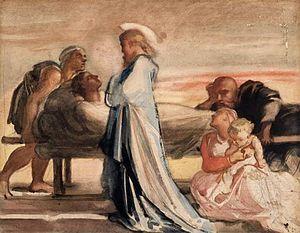 """""""Christ Raising the Dead"""", Watercolo..."""