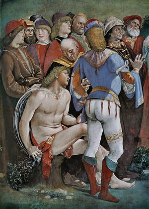 Luca Signorelli - Testament and Death of Moses, detail