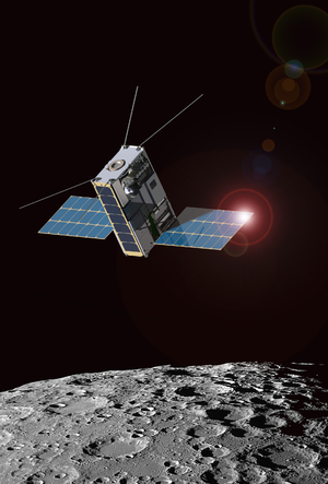 Lunar IceCube - Artist's rendering of the Lunar IceCube spacecraft