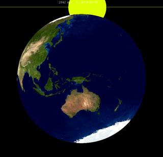 Lunar Eclipse From Moon 2042Apr05