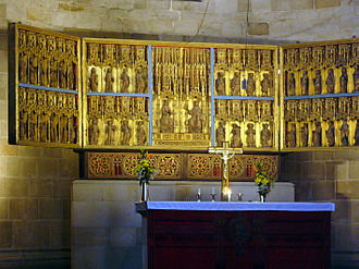 Lund Cathedral - Gothic altarpiece dating from 1398.