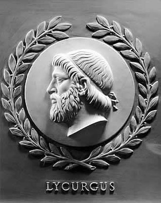 History of democracy - Bas-relief of Lycurgus, one of 23 great lawgivers depicted in the chamber of the United States House of Representatives