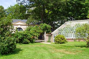 Lyman Estate - Carriage house and a greenhouse.