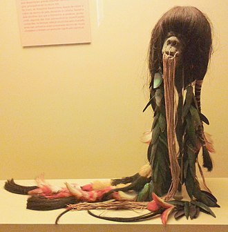 Ecuador - Pre-Hispanic shrunken head of the Shuars (Jivaroan peoples).