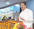 "M. Venkaiah Naidu addressing at the foundation stone laying ceremony of the construction of ""Automated Car Parking"" at Transport Bhawan, in New Delhi.jpg"
