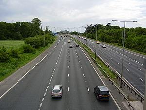 Transport in Preston -  The M6 from J29 (A6 Preston South)