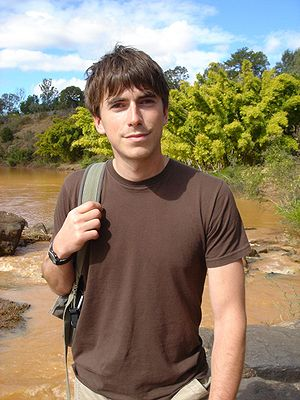 Simon Reeve (British TV presenter) - Simon Reeve photographed while travelling along the Tropic of Capricorn