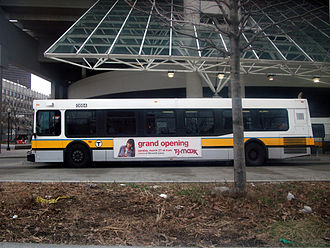 Haymarket station (MBTA) - MBTA bus in the Haymarket busway