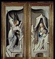 MCC-41503 Drieluik met Maria en kind, Jozef, engelen en heiligen in besloten tuin, op buitenzijden luiken een annunciatie met links engel en rechts Maria (2).jpg