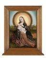MCC-42241 Maria met kind in een stralenkrans voor een rozenhaag (1).tif
