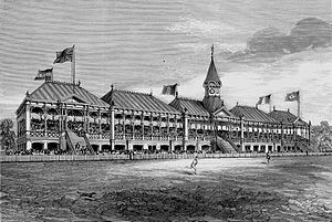 Melbourne Cricket Ground - Grandstand built for the English cricket team's 1877 visit