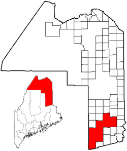 Location of South Aroostook, Maine